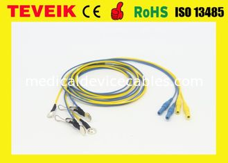 China Neurofeedback DIN1.5 Socket EEG Cable, Silver Plated Copper EEG Ear-clip Electrode supplier