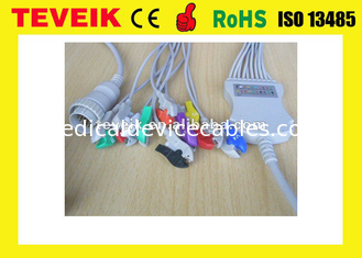 China Kenz ECG Cable With Integrated 10 Leadwires Clip 4.7K Ohm AHA supplier