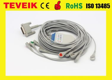HP M1770A 10 leadwires ECG/EKG Cable For Patient Monitor, DB 15pin Snap