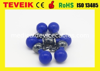 China Pediatric Suction Cup Electrode Blue Ball Nickel Plated Silicone Material For DIN 3.0 supplier