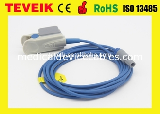 China Adult Finger Clip Reusable Spo2 Sensor Mindray For PM6000 Redel 6 Pin 10ft Medical Cable supplier