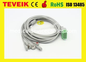 Reusable One Piece GE Marquette 5 leads ECG Cable For Dash 4000 Patient Monitor