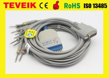 China Nihon Kohden EKG Cable for ECG-8420,ECG-9132 ECG-906N Biocare:ECG-101,101G supplier