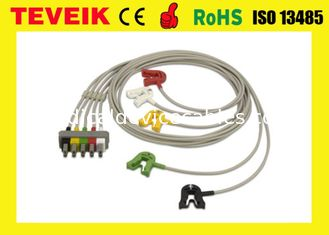 China HP Medical Patient Monitor ECG Cable M1633A EKG Cable 5 leads Clip IEC supplier