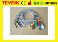 China DIN 1.5 7 leads Snap AHA Holter ECG Leadwire Medical Consumables factory