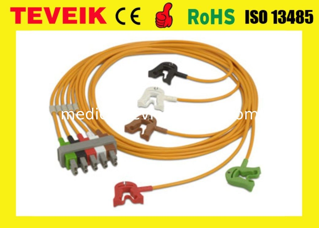 ECG Accessories 10 Pin Medical Cable For Portable ECG Monitor AHA