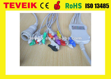 China Kenz ECG Cable With Integrated 10 Leadwires Clip 4.7K Ohm AHA distributor