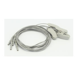 China 1 Pair DIN1.5 Socket EEG Cable 1.2m Silver Chloride Plated Copper Medical Accessories distributor