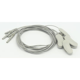 China Pure Silver Ear - Clip EEG Cable 1 Pair 1.2m Din TPU Material With DIN1.5 Socket distributor